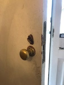 Inside look of old setup mortise lock