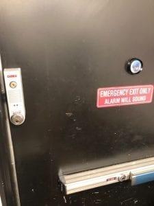 Detex Exit Device On Emergency Door