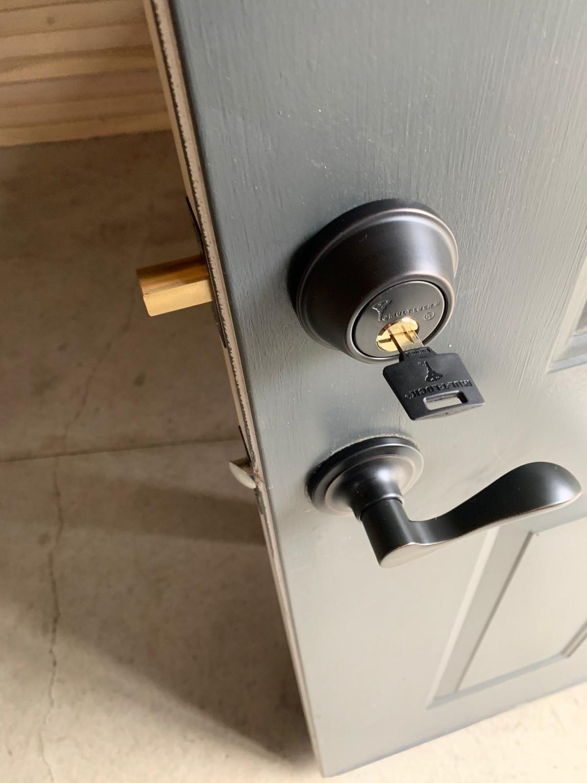 Keyed entry residential lock -lock picking shouldnt harm the locks