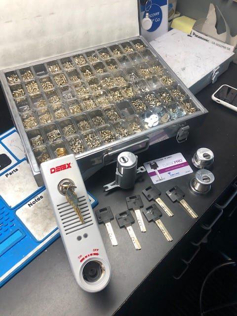 Key entry door knob lock kwikset parts ready to install by a locksmith
