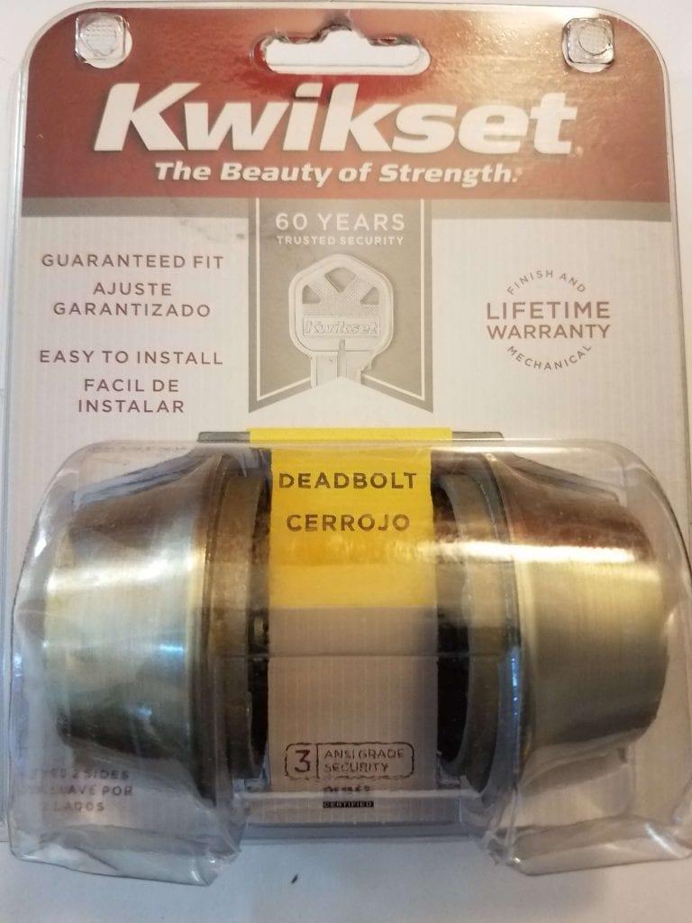 Kwikset double sided deadbolt
