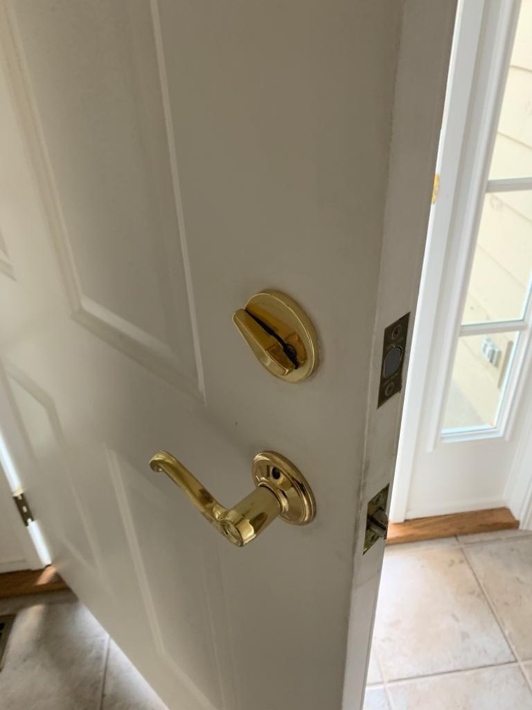 Schlage locks residential - Schlage Single Cylinder Deadbolt BACK SIDE installed