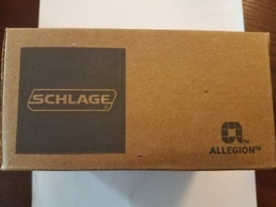 Schlage original single sided deadbolt original package