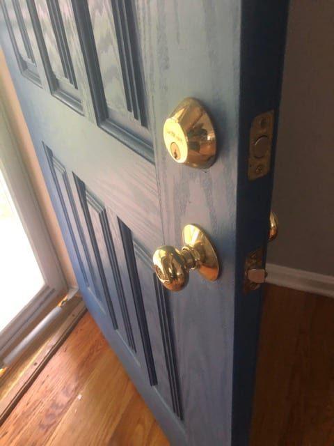 Schlage residential locks - door knob and deadbolt most common