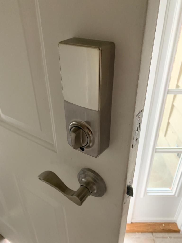 Schlage locks electronic lock back side
